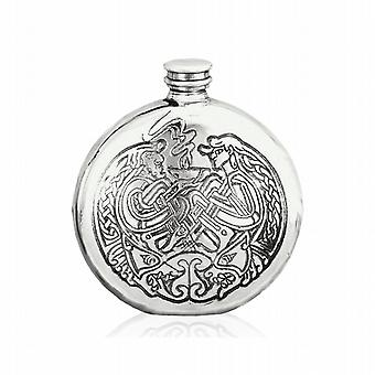 Celtic Design Pewter Hip Flask - 6Oz (Sf248)
