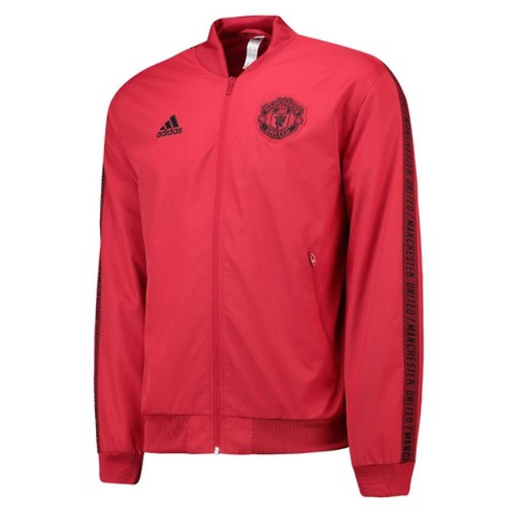 2019-2020 Man Utd Adidas Anthem veste (rouge)-enfant