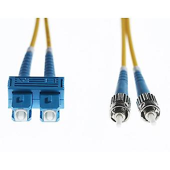 2M ScSt Os1 Os2 Singlemode Fibre Optic Cable Yellow