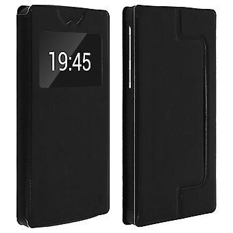 Smartphone Case 6,4'' Card Holder Window Video stand,slide Black