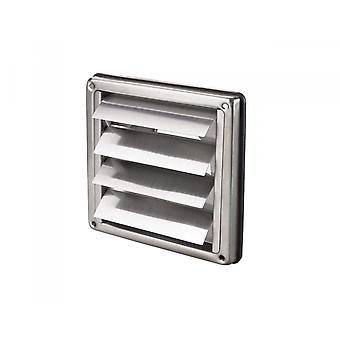 Edelstahl Square Air Vent Grill 100 mm 4'' - Absauger - Wand-Entlüftungsgravity