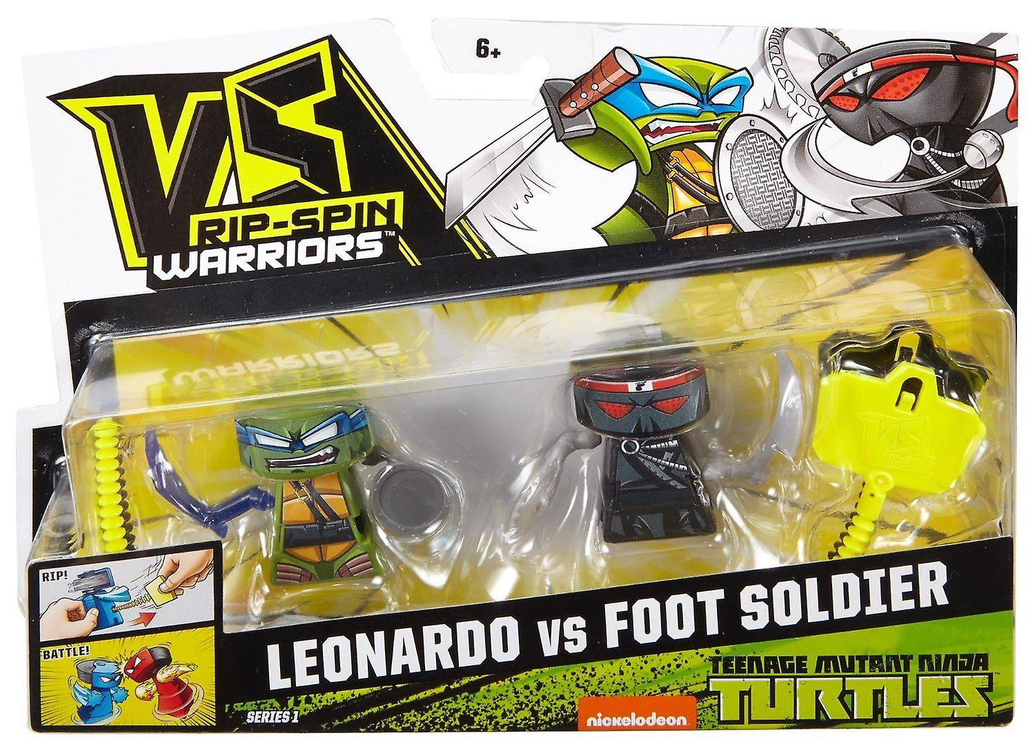 Vs Rip-spin Warriors Teenage Mutant Ninja Turtles Leonardo Vs Foot Soldier