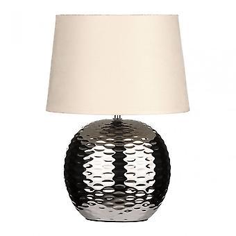 Premier Home Table Lamp, Fabric, Cream