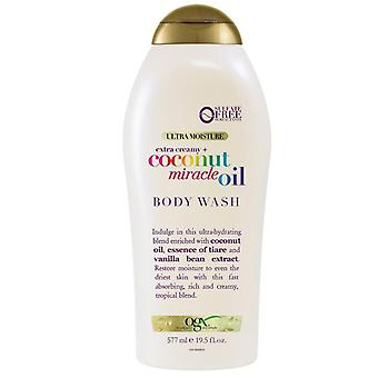 Ogx coconut miracle oil body wash, 19.5 oz