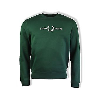 Fred Perry Graphic Sweatshirt (Ivy)