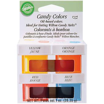 Candy Colors 1 4 Ounce 4 Pkg Yellow Orange Red Blue W1913 1299