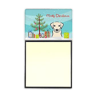 Christmas Tree and Yellow Labrador Sticky Note Holder BB1594SN