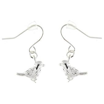 Silver Plated Bird Drop Earrings
