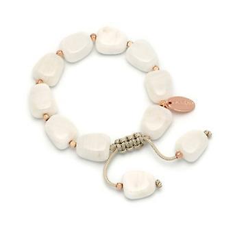 Lola Rose Henny armbånd hvid Sea Shell marmor