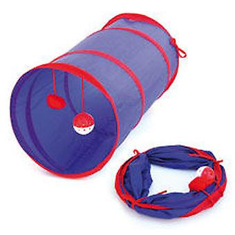 Freedog Flexitunnel Blue&Yellow 25X55Cm (Cats , Toys , Tunnels)