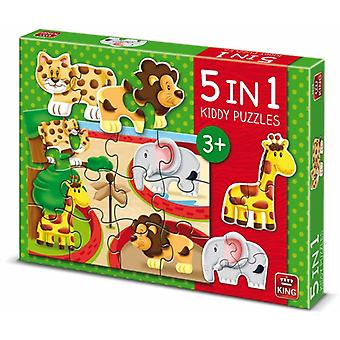 König 5 in 1 Kiddy Puzzle Zoo 5079