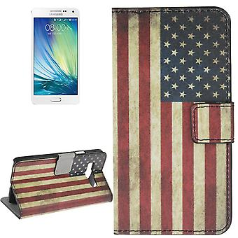 Cover cell phone case (flip cross) for mobile Samsung Galaxy A3 A300F retro flag United States