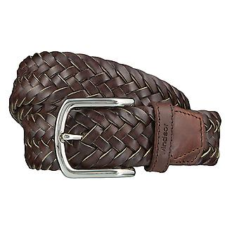 Windsor. Belts men's belts leather belt woven belt Brown 4180