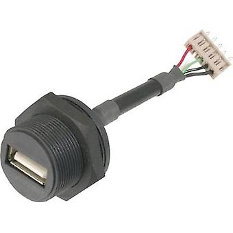 ASSMANN WSW A-USB-APFS USB Connector 2.0 - IP67 Socket, build-in USB A-socket to 5 pin.Connector