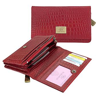 Dr Amsterdam ladies wallet Croco Buff Red