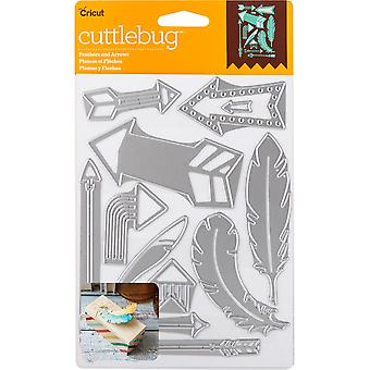 Cuttlebug couper & Emboss Die-plumes & flèches, 12/Pkg 2003470