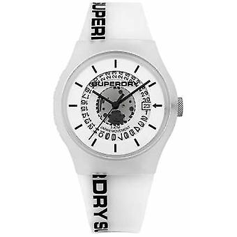Superdry Mens Urban Semi Opaque White SYG168W Watch