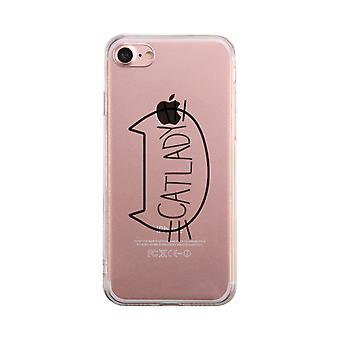 Catlady Transparent Phone Case Cute Clear Phonecase For Cat Lover