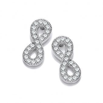 Cavendish French Silver and Cubic Zirconia Infinity Earrings