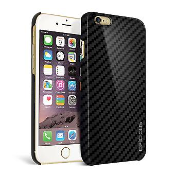 Celicious Matrix Apple iPhone 6 echte Carbon Fibre terug Cover Case