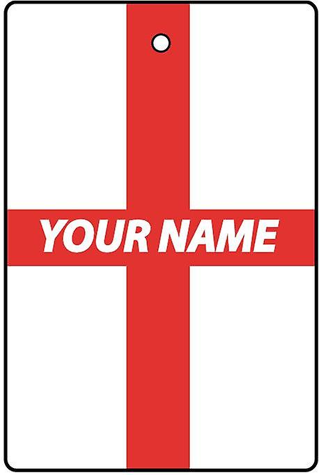 England Flag Personalised Car Air Freshener