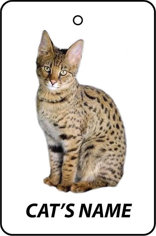 Individanpassade Savannah katt bil luftfräschare