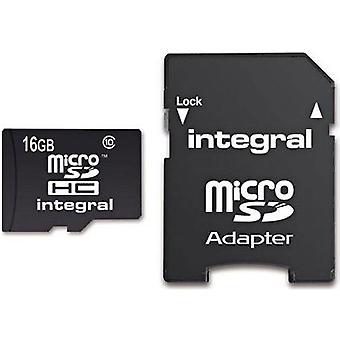 Integreret UltimaPro 16GB klasse 10 Micro SDHC hukommelseskort med Adapter