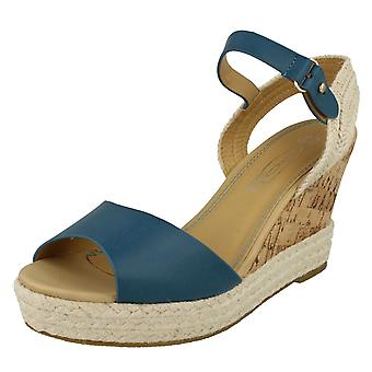 Ladies High Wedged Sling Back Espadrille Sandal