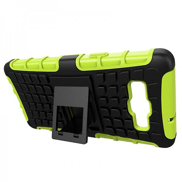 Hybrid Case for Samsung Galaxy 2teilig Robot Green A3 A300 A300F