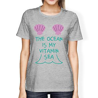 Havet är min Vitamin havet söt Womens Lightweight grafisk Tshirt