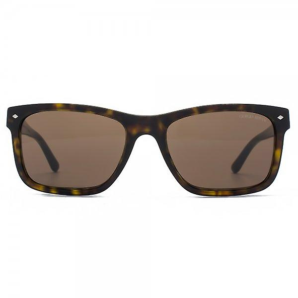 Giorgio Armani Frames Of Life Rectangle Sunglasses In Dark Havana