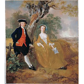 Thomas Gainsborough - A Couple in a Landscape Poster Print Giclee