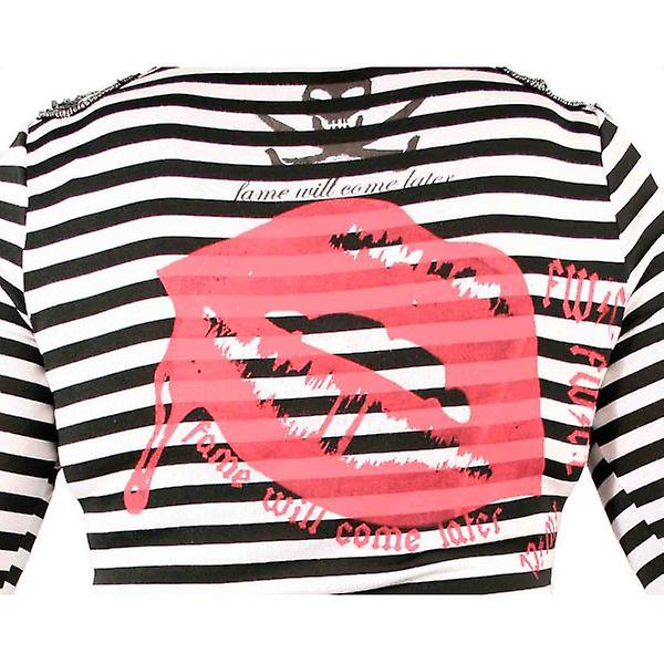 W.A.T Black And White Striped Anchor Top