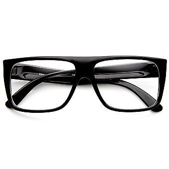 Casual Fashion Basic Rectangular Flat Top Clear Lens Glasses