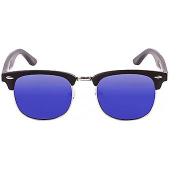 Ocean Remember Sunglasses - Black/Matte Black/Blue Revo