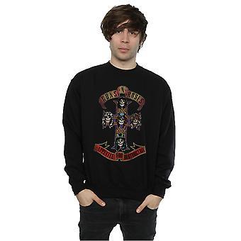 Guns N Roses Men's Appetite for Destuction Distressed Sweatshirt