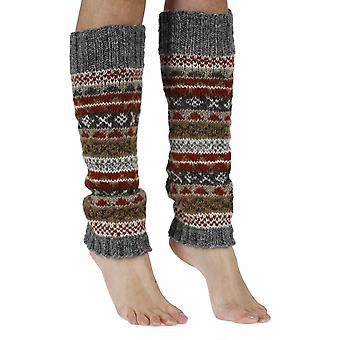 Finisterre warm handmade wool legwarmer in earth | By Pachamama