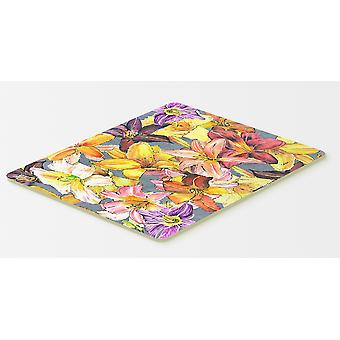 Carolines Treasures  8892CMT Day Lillies Kitchen or Bath Mat 20x30
