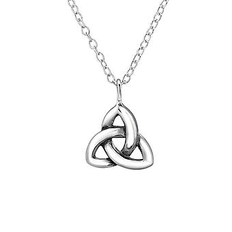 Celtic Knot - 925 Sterling Silver Plain Necklaces - W30871x