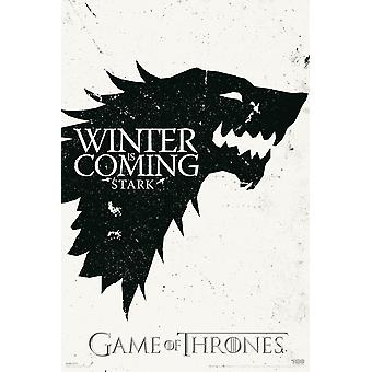 Game Of Thrones Winter Winter Is Coming Poster Poster Print