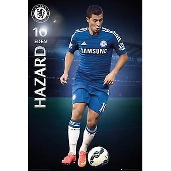 Chelsea FC Eden Hazard 2014-2015 Poster Poster afdrukken