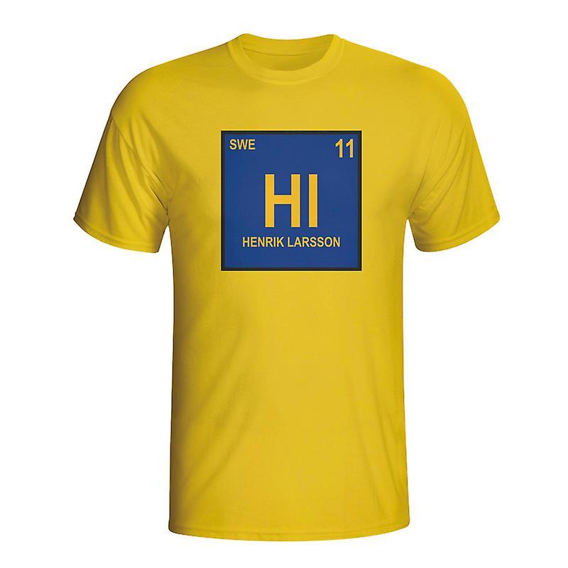Henrik Larsson Sweden Periodic Table T-shirt (yellow)