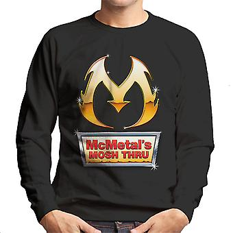 Metal Fast Food Sign Mosh Thru Men's Sweatshirt