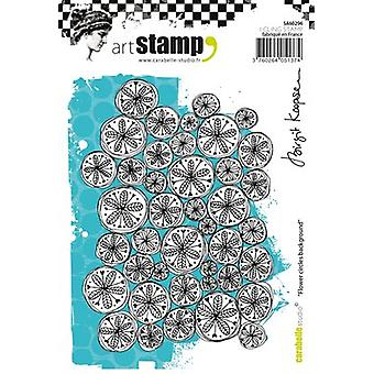 Carabelle Studio Cling Stamp A6 By Birgit Koopsen-Flower Circles Background SA60296
