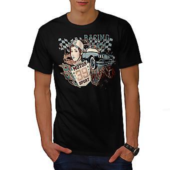 Vintage Racing Sport BlackT-chemise homme   Wellcoda