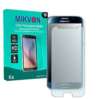 Samsung Galaxy S6 Duos (G9200) Screen Protector - Mikvon Clear (Retail Package with accessories) (intentionally smaller than the display due to its curved surface)
