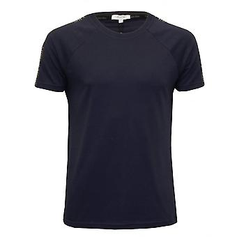 Calvin Klein Logo nastro rilassato t-shirt girocollo, Navy