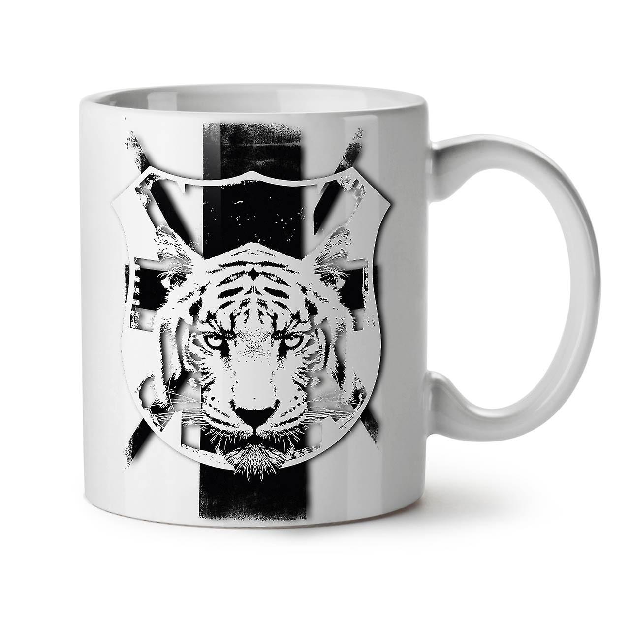 Céramique Tasse Tigre Nouveau Blanc 11 OzWellcoda Café Calme Visage Animal Thé PiXZuOkTwl