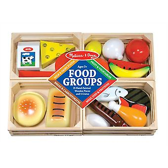 Melissa & Doug Food Groups Play Food age 2+ 21 items and 4 crates