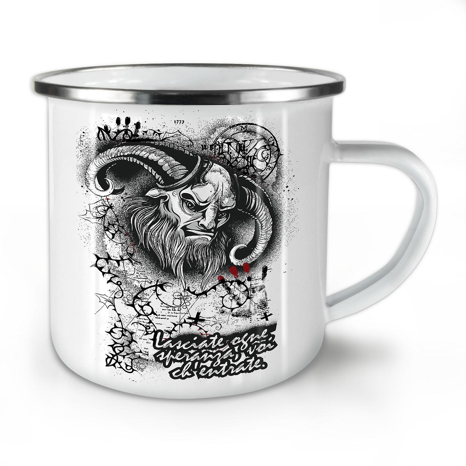 Diable Satan Nouveau OzWellcoda Émail Mug10 Enfer Café Whitetea Crâne iuOXPkZ